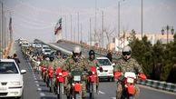 رژه موتوری در نخستین روز هفته دفاع مقدس
