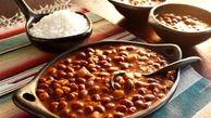 خوراک لوبیا قرمز با برنج