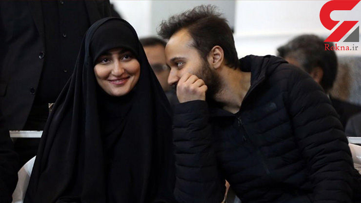 تصویری از زینب سلیمانی در کنار برادرش