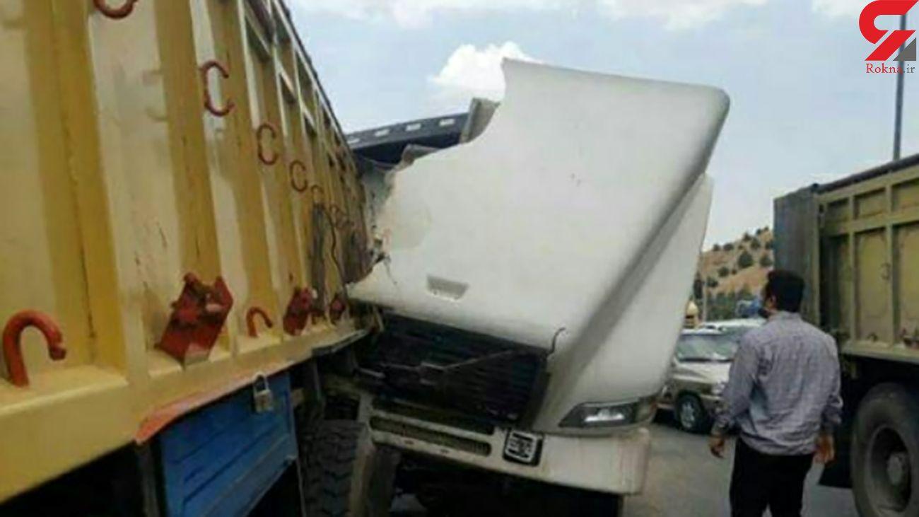 تصادف مرگبار در گردنه جاجرود با یک کشته + عکس