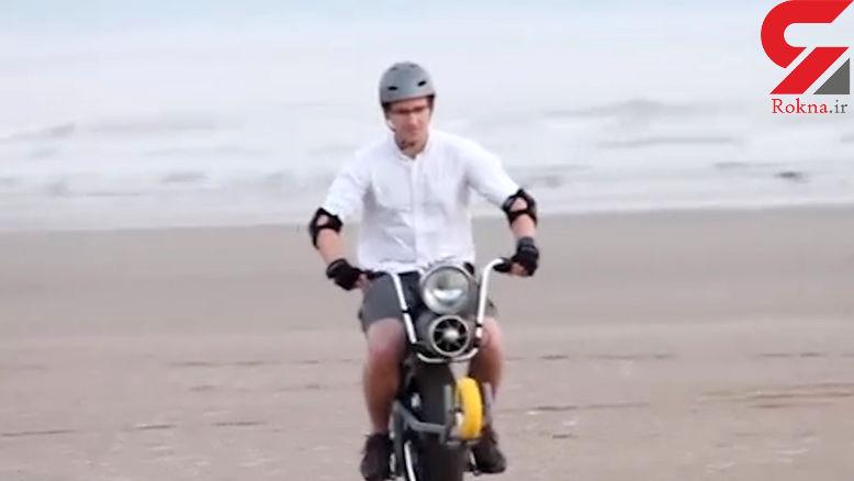 قویترین موتورسیکلت برقی تک چرخ +فیلم