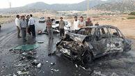 تصویری دلخراش از زنده زنده سوختن ۳ نفر در یاسوج
