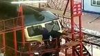 حادثه دردناک برای کارگران مترو + فیلم