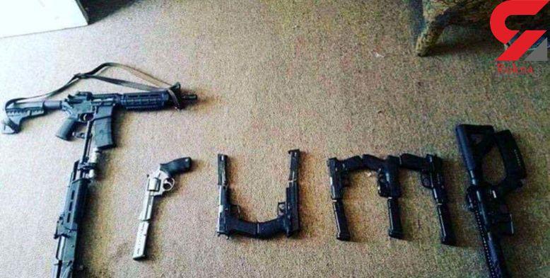 عکس 9 تفنگی که میهمانان عروسی زوج ابادانی همراه داشتند / اینجا تگزاس نیست!