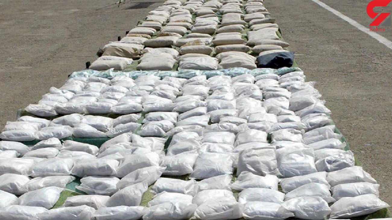 درگیری مسلحانه پلیس ایرانشهر با قاچاقچیان / بیشاز یک تن موادمخدر کشف شد