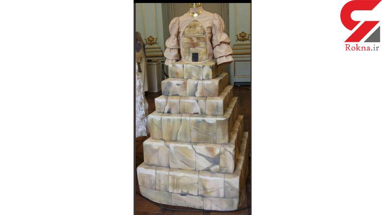 لباس به شکل مقبره کوروش در نمایشگاه مد ایرانی + عکس