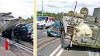تانک ارتش در بزرگراه حادثه آفرید + عکس