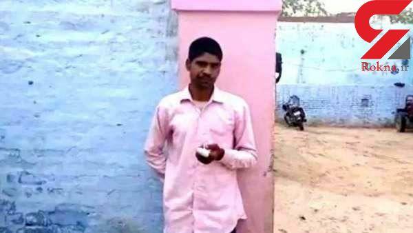 مرد هندی بعد از رای دادن انگشت جوهری خود را با ساطور قطع کرد! + عکس