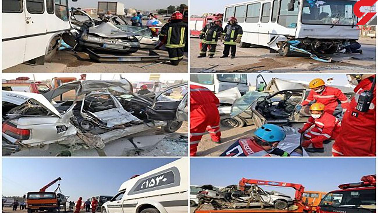 6 عکس از صحنه مرگبار یک تصادف در جاده مشهد