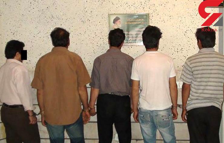 این 5مرد دزدان روستاهای مشهد بودند/ اعتراف به سرقت 60نیسان و پراید +عکس
