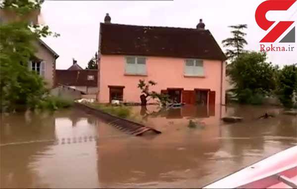 چندین شهر فرانسه به محاصرۀ سیلاب درآمده است / آب و هوا در اروپا پس است