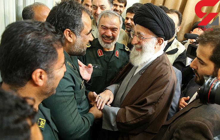 رهبر معظم انقلاب اسلامی در دیدار پاسدارانی که متجاوزان امریکایی به آبهای ایران را بازداشت کردند + فیلم