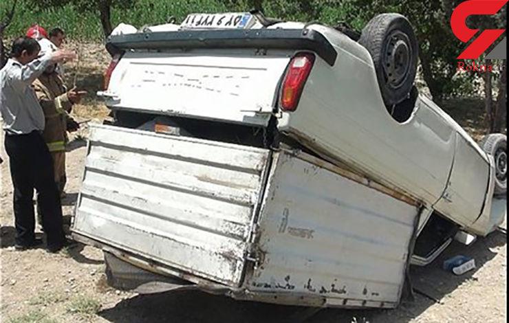 2 کشته در پی واژگونی وانت پیکان در شیراز