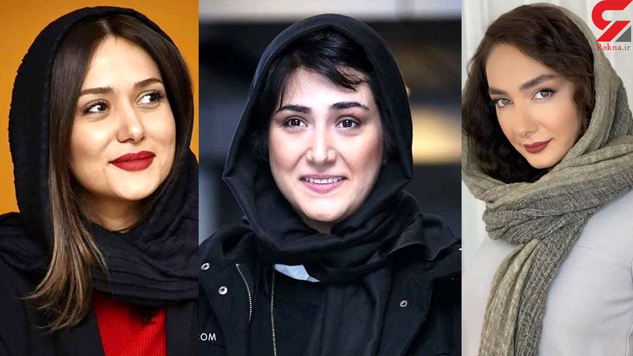 چهره بدون آرایش 8 خانم بازیگر ایرانی ! / تفاوت ها را مقایسه کنید + اسامی و عکس ها