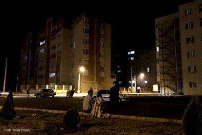 حضور شبانه مردم میانه در خیابان ها