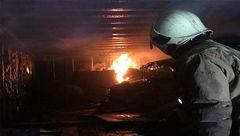شعله های آتش کانکس نگهبانی را سوزاند