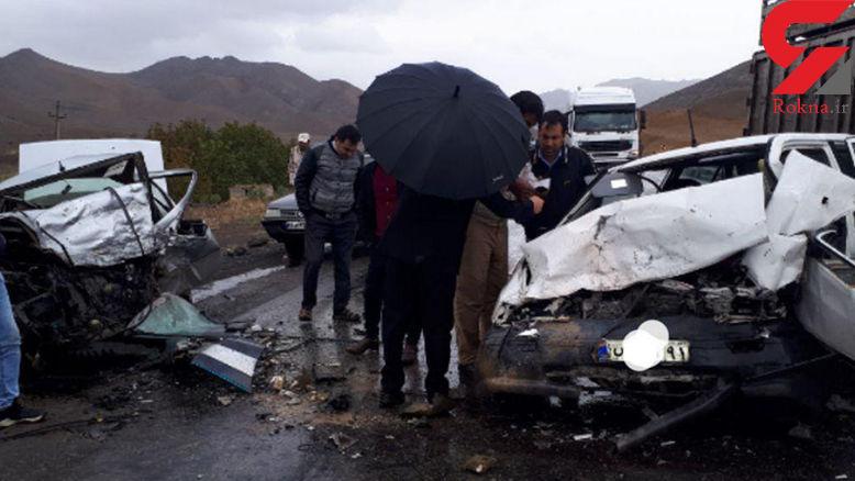 وحشتناکترین عکس از تصادف مرگبار در جاده مغان