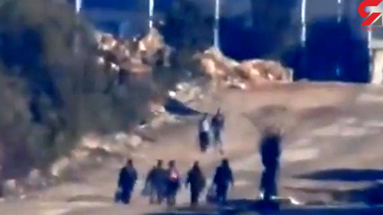 فیلم لحظه به شهادت رسیدن مدافعان حرف با موشک حرارتی