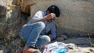 مزاحمت معتادان در اراضی جنگلی دست کاشت بلوار صیاد برای شهروندان + عکس