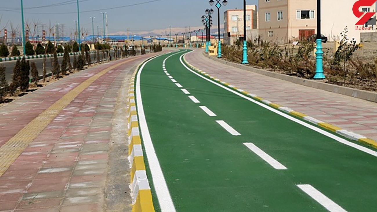 ایجاد مسیر دوچرخه سواری در خیابان ولیعصر