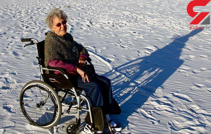 ماجراجویی پیرزن بیمار در 90 ساله