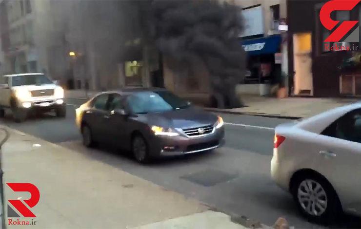 انفجار وحشت در مرکز فیلادلفیا