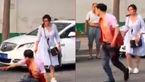 فیلم لحظه حمله به شوهر در خیابان / او را دست در دست یک زن دیدم!+ عکس