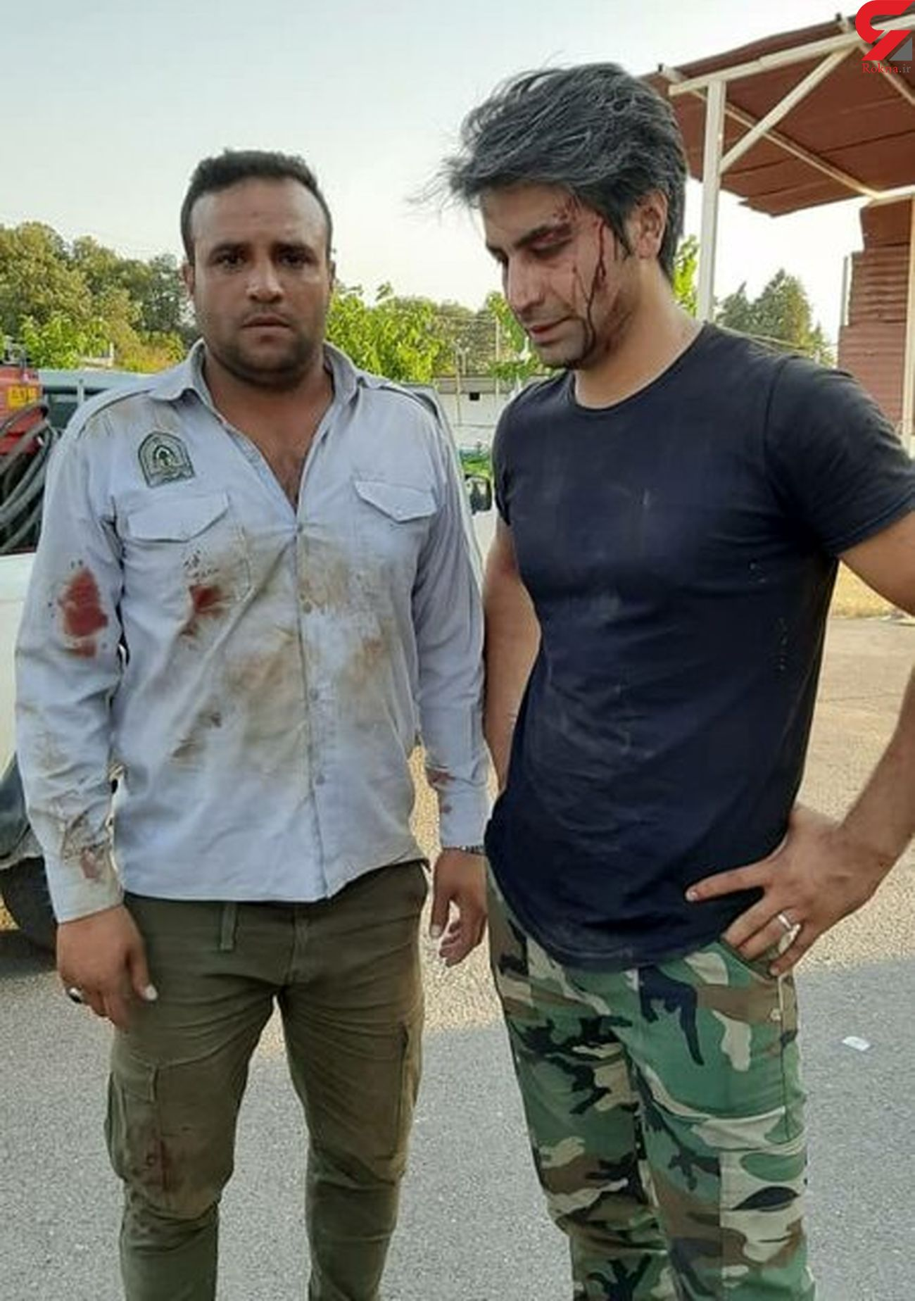 دستگیری 2 نفر حین آتش زدن عمدی جنگل در گرگان + عکس
