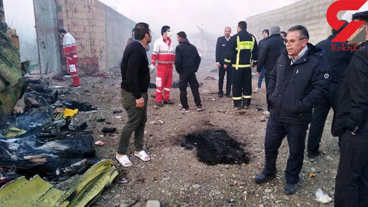 آخرین خبر و فیلم از سقوط هواپیما / تمام سرنشینان ایرانی و اوکراینی جان باختند
