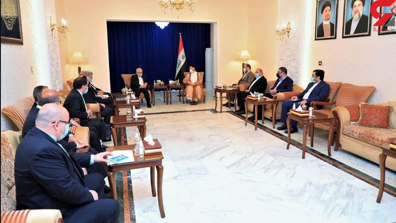 ظریف و سید عمار الحکیم در بغداد دیدار کردند