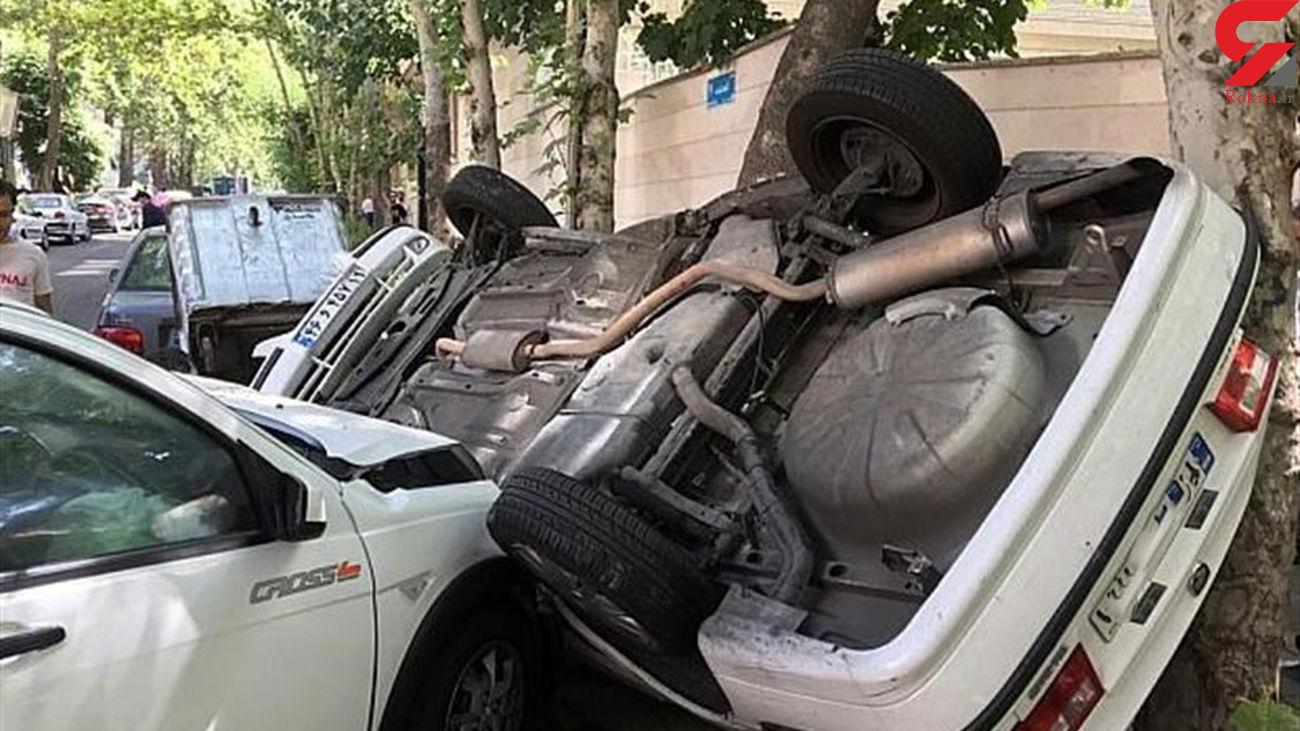 تصادف خونین بامدادی در خیابان پاسداران + عکس های دلخراش
