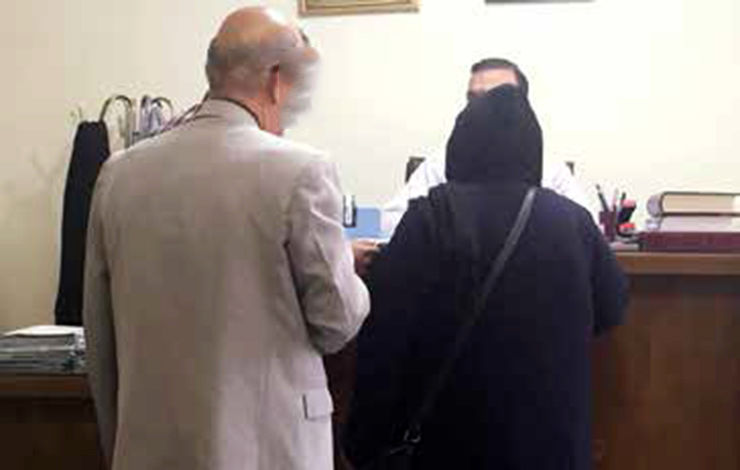 اشکهای عروس خانم هنگام جدایی از داماد 91 ساله تهرانی+عکس