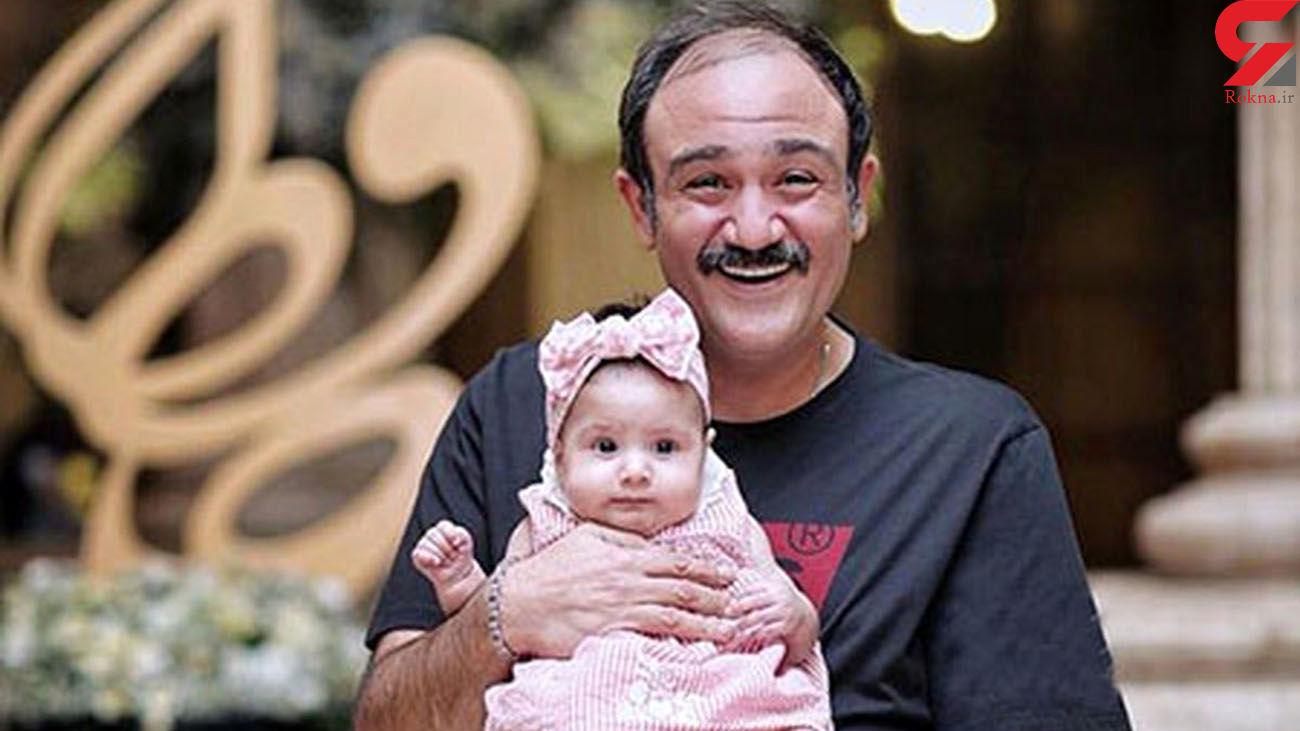 حرکت عجیب مهران غفوریان و دخترش هانا + عکس