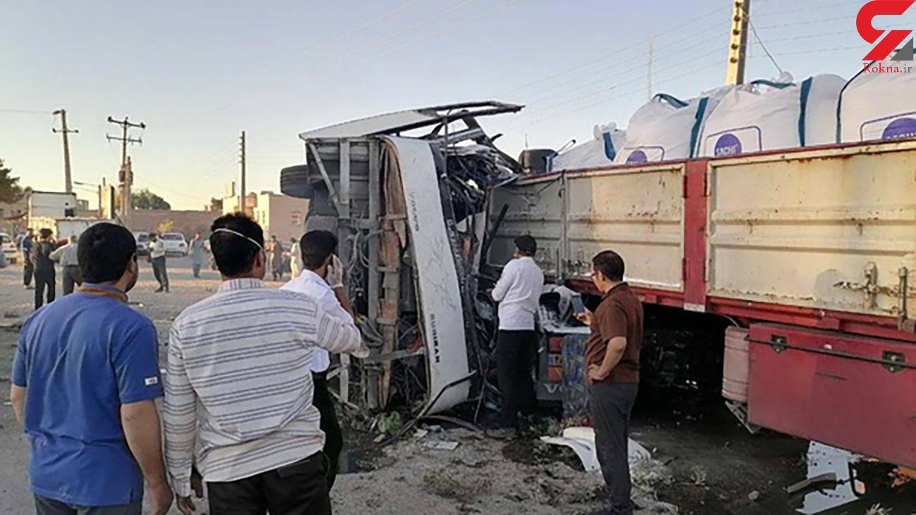 ۵ کشته در  اتوبوس حامل سربازان بعد از اتوبوس خبرنگاران ! / در یزد رخ داد + عکس