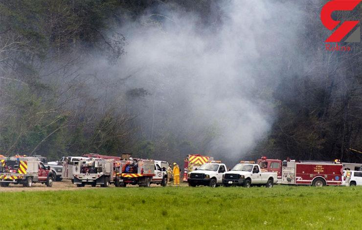 5 سرنشین هلیکوپتر در آتش سوختند