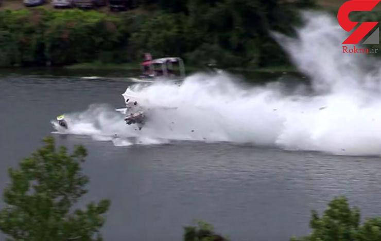 فیلم باورنکردنی تکه تکه شدن یک قایق با موتور جت + تصاویر