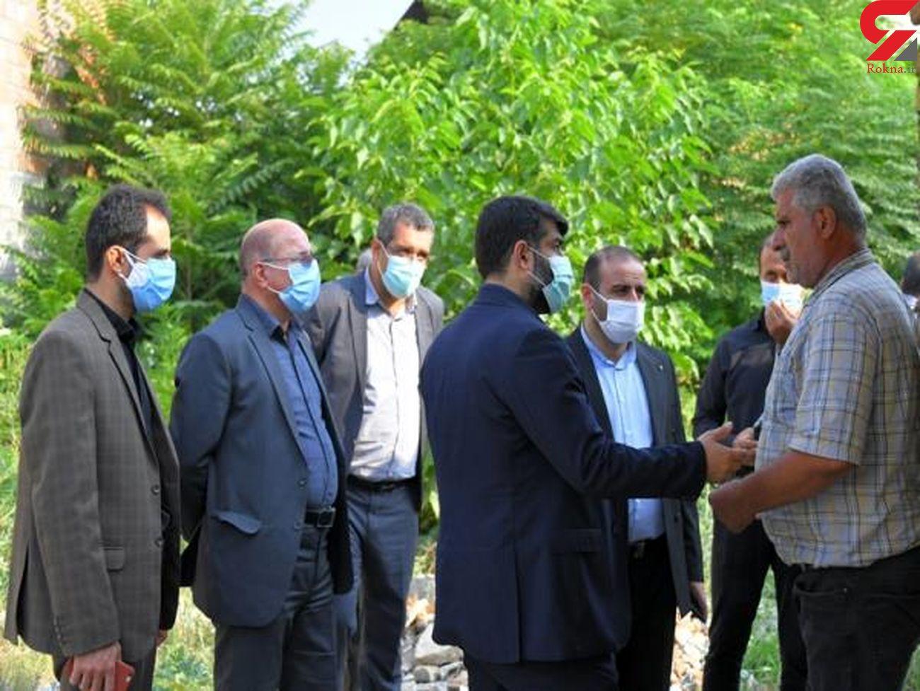 بازدید سرپرست شهرداری ساری و عضو شورای اسلامی شهر از محله شریف آباد