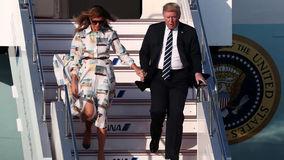 لباس ملانیا ترامپ در سفر به ژاپن سوژه شد +عکس