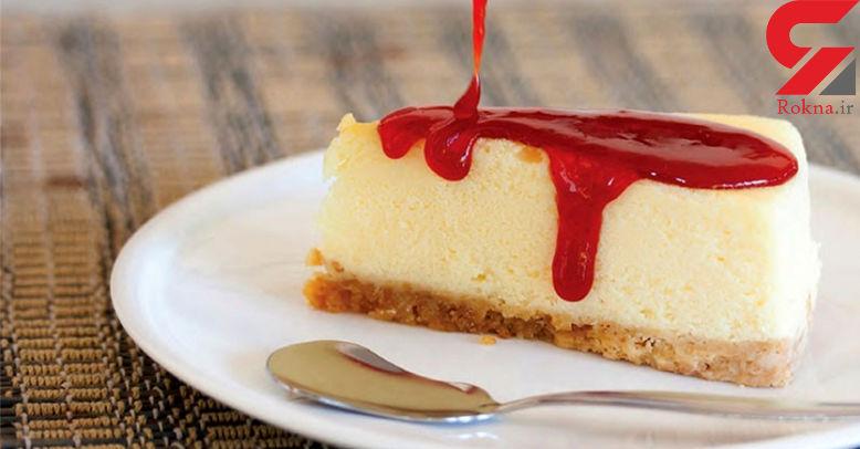 چیز کیک نیویورکی با طعم پنیر خامه ای+ دستور پخت