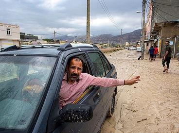 عکس ها تلخ / شهرستان کنگان غرق در آب