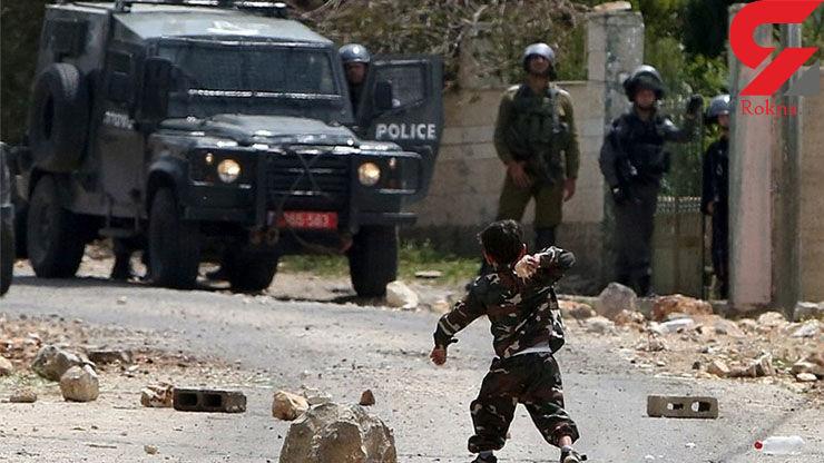 زیر گرفته شدن یک کودک فلسطینی توسط یک شهرک نشین صهیونیست