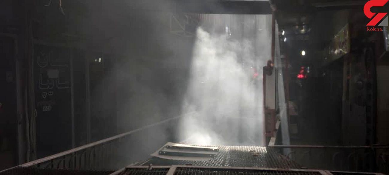 آتش سوزی در کارخانه شهدینه اصفهان