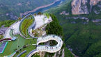 افتتاح پل گردشگری جدید در چین + تصاویر