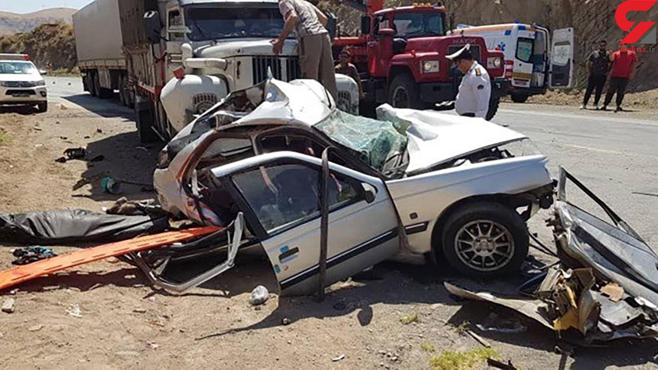 برخورد تریلر - با پژو در محور میانه - تبریز با 6 کشته و زخمی