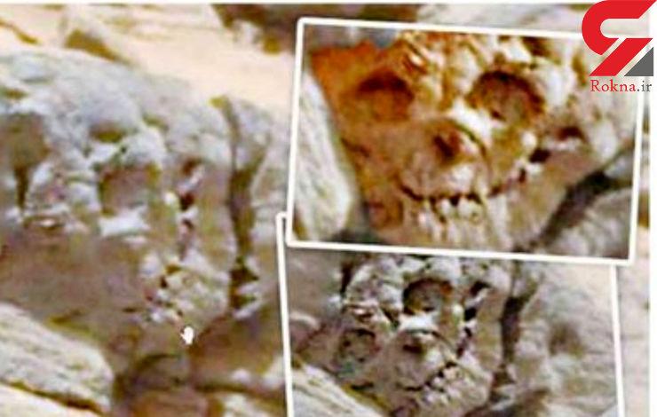 کشف فسیل  جمجمه انسان  در مریخ / ببینید