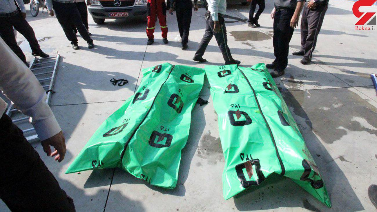 سقوط مرگبار 2 جوان در ایوان + عکس جسد