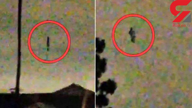 وحشت مردم از لحظه پرواز موجودی عجیب و وحشتناک در آسمان+ عکس