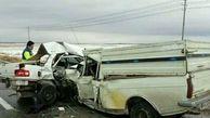 تصادف پژو 405 و پیکان وانت جان پلیس سبزواری و همسرش را گرفت
