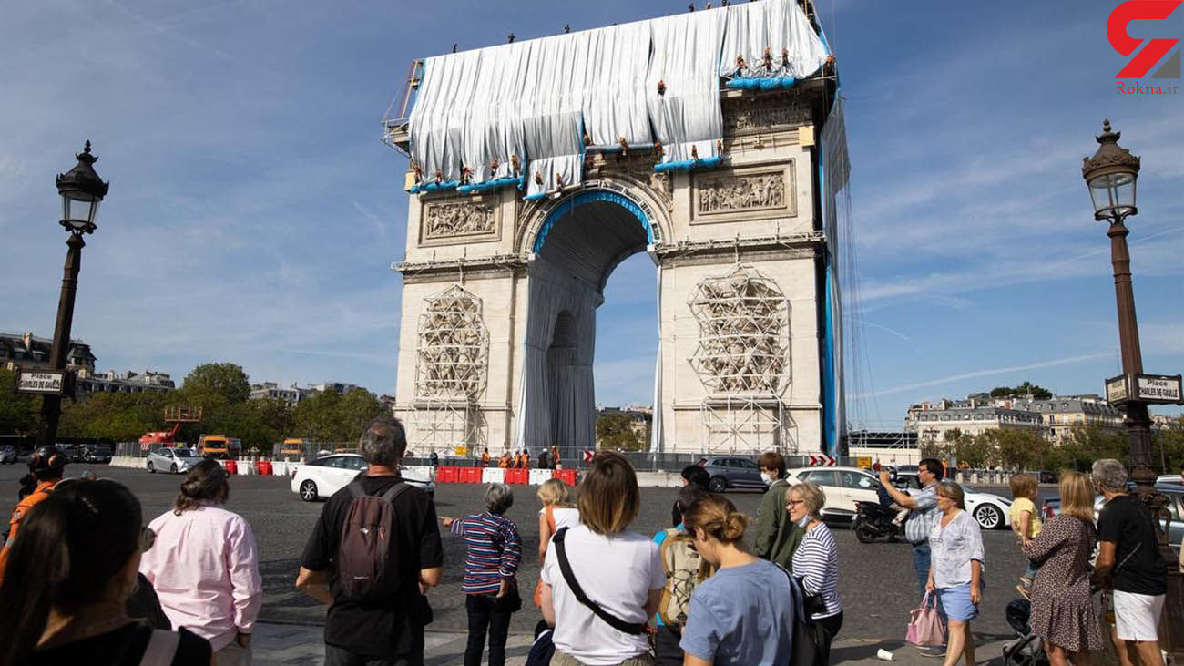 جلوه های هنری روی طاق نصرت در پاریس + فیلم