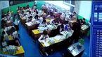 صحنه های زشت از کتک زدن دانش آموزان توسط یک معلم + فیلم